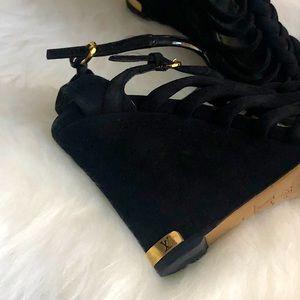 Authentic ♠️ LOUIS VUITTON ♣️  suede sandals